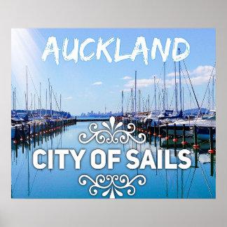 Auckland, Stadt des Segel-atemberaubenden Plakats Poster