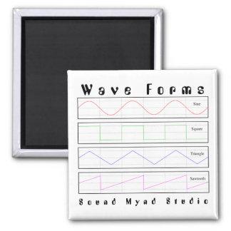 Audioliebhaber-Wellen-Form-Magnet Quadratischer Magnet