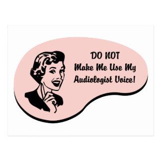 Audiologe-Stimme Postkarte
