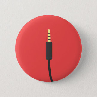Audiosteckerverbindungsstück-Kabelmusik Mini Runder Button 5,1 Cm