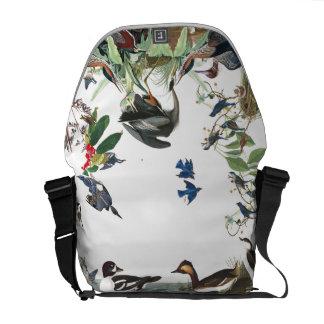 Audubon Collage der Vogel-Tier-Bote-Tasche Kuriertasche