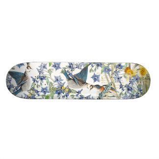 Audubon Drossel-Vogel-Tier-BlumenSkateboard 18,4 Cm Mini Skateboard Deck