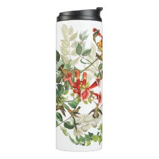 Audubon Kolibri-Vogel-Tier-Blumen-Trommel Thermosbecher