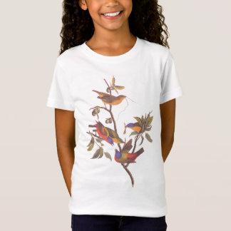 Audubon malte Flaggen-Vögel im wilde Pflaumen-Baum T-Shirt