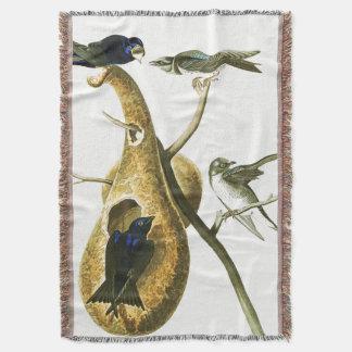 Audubon Martin Vogel-Tier-TierWurfs-Decke Decke