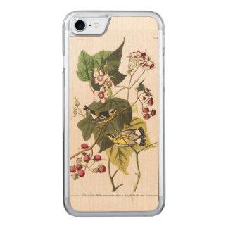 Audubon Platte 123 schwarze und gelbe Trällerer Carved iPhone 8/7 Hülle