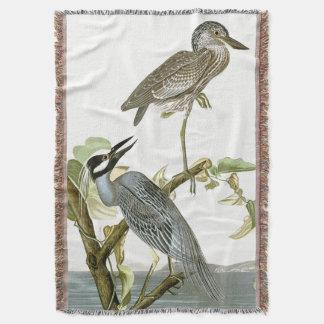 Audubon Reiher-Vogel-Tier-TierWurfs-Decke Decke