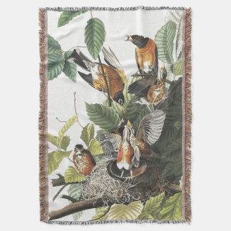 Audubon Robin Vogel-Tier-TierWurfs-Decke Decke