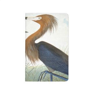 Audubon: Rötlicher Reiher oder lila Reiher Taschennotizbuch