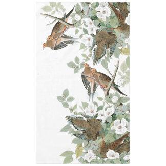 Audubon Schildkröte-Tauben-Vogel-Blumen-Tischdecke Tischdecke