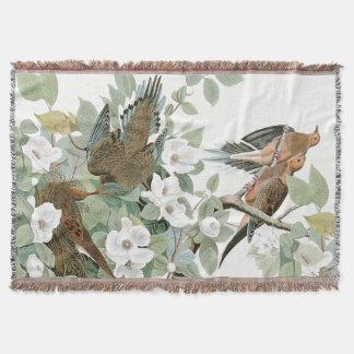 Audubon Schildkröte-Tauben-Vögel WildlifeThrow Decke