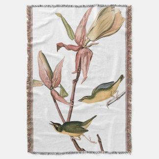 Audubon Trällerer-Vogel-Tier-TierWurfs-Decke Decke