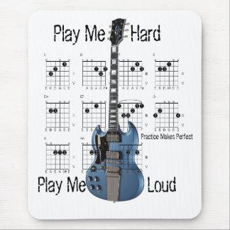 Auf Anfängerniveau Gitarrist Mousepads