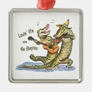 Auf DA-Bayou Silbernes Ornament