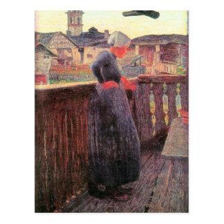 Auf dem Balkon durch Giovanni Segantini Postkarte