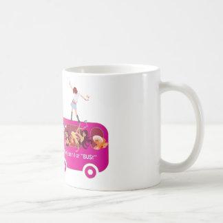 Auf dem Bus-Logo Kaffeetasse