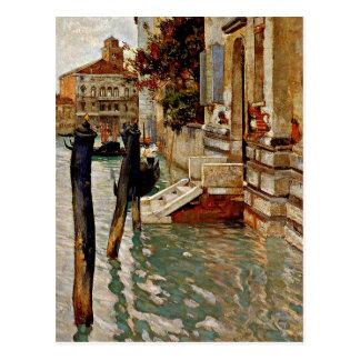 Auf dem Canal Grande Venedig--Fritten Thaulow Postkarten