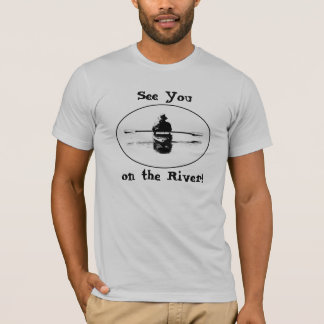 Auf dem Fluss-Kajak-T - Shirt