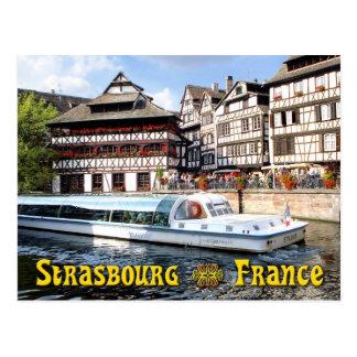 Auf dem Fluss-Kranken in Straßburg kreuzen, Postkarte