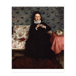 Auf dem Sofa - 1872 durch Wilhelm Trübner Postkarte