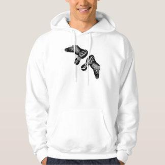 Auf den Flügeln eines laufenden Geschenks des Hoodie