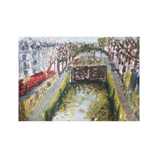 auf der Brücke des Hotels des Nordens (Kanal heili Gespannter Galeriedruck