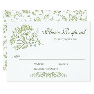 Auf der Grasland-Hochzeit UAWG Karte 8,9 X 12,7 Cm Einladungskarte