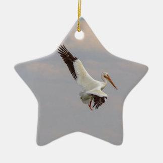 Auf der Jagd Keramik Stern-Ornament