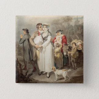 Auf der Straße 1799 (w/c über Spuren des Quadratischer Button 5,1 Cm