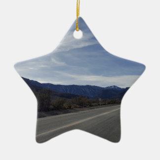 auf der Straße zu mt Charleston Nanovolt Keramik Stern-Ornament