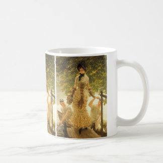 Auf der Themse durch James Tissot, Vintager Kaffeetasse