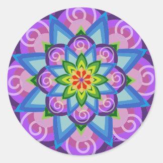 Auf die Person abgestimmt Klebstoff Mandala der Runder Aufkleber