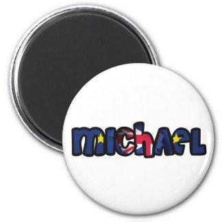 Auf die Person stimmt Magnet Michael Runder Magnet 5,1 Cm