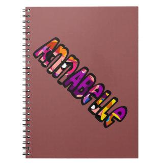 Auf die Person stimmt Notizbuch Annabelle Notizblock
