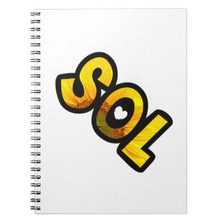 Auf die Person stimmt Notizbuch Sonne Notizblock
