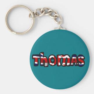 Auf die Person stimmt Schlüsselbund Thomas Schlüsselanhänger