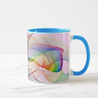 Auf diese Weise und das! Mehrfarbenstrudel-Tasse Tasse