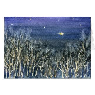 Auf dieser heiligen Nacht - Weihnachtsgedicht + Grußkarte