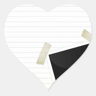 auf einer Seite Herz-Aufkleber