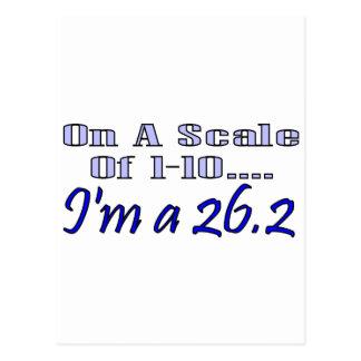 Auf einer Skala von 1-10 bin ich A 26,2 Postkarte