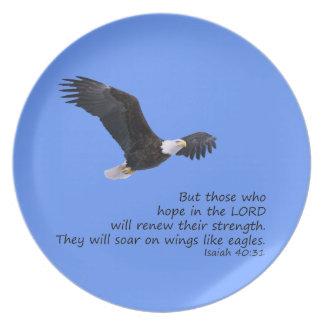 Auf Flügeln mögen Sie Eagles-Platte Flacher Teller