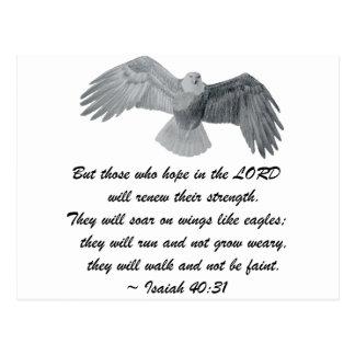 Auf Flügeln wie Eagles - ist 40:31 Postkarte