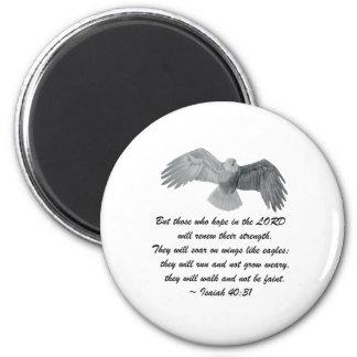 Auf Flügeln wie Eagles - ist 40:31 Runder Magnet 5,7 Cm