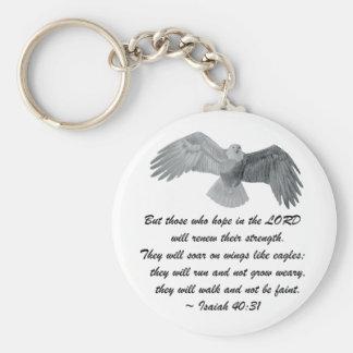 Auf Flügeln wie Eagles - ist 40:31 Schlüsselanhänger