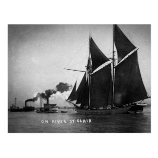 Auf Fluss-St. Clair Vintager Louis Pesha 1900 Postkarte