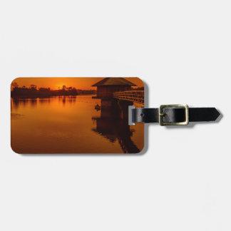 Auf goldenem Teich Gepäckanhänger