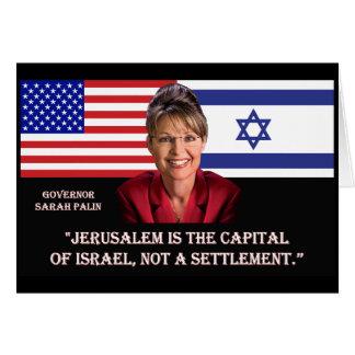 AUF JERUSALEM- - SarahPalin Zitat Karte