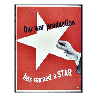 Auf Krieg hat Produktion einen Stern erworben Flyer Druck