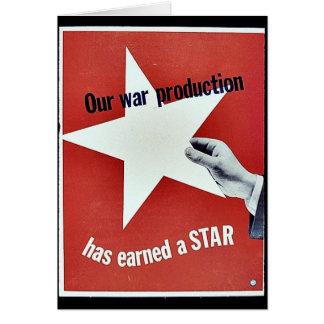Auf Krieg hat Produktion einen Stern erworben Karte