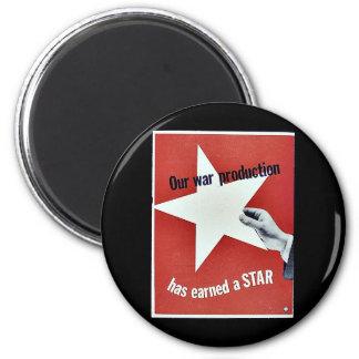 Auf Krieg hat Produktion einen Stern erworben Magnete